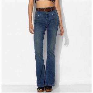 BDG anthropology High Rise seam Flare jeans size29